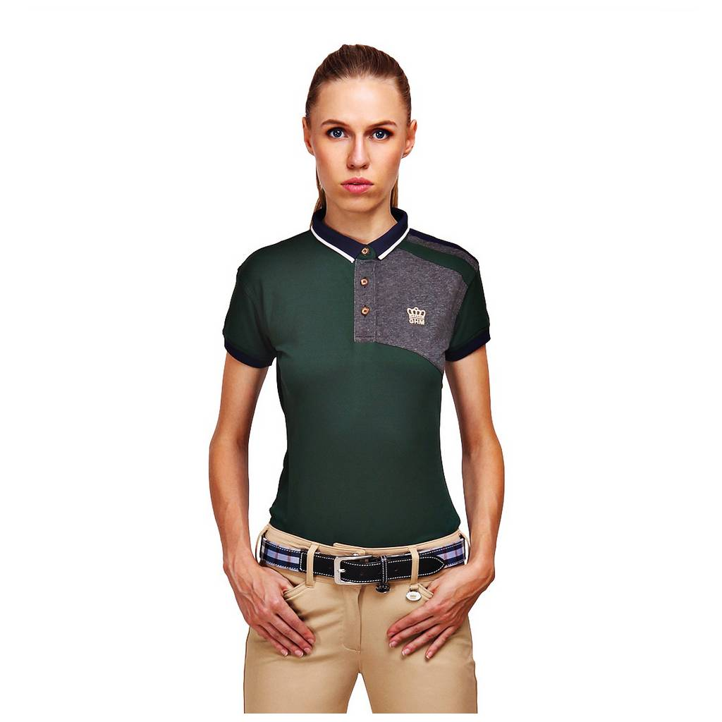 GHM by Equine Couture Hunter Short Sleeve Polo Shirt- Ladies
