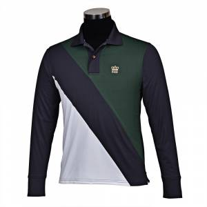 GHM by Tuffrider Pro Sport Long Sleeve Polo Shirt-Mens