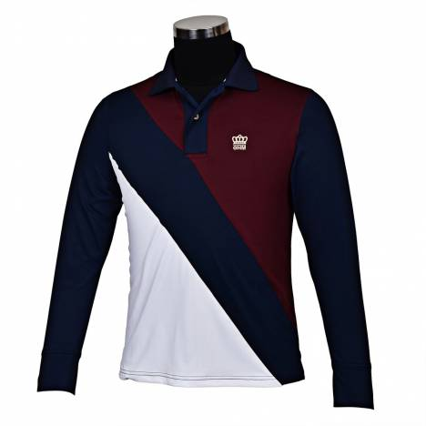 Tuffrider Pro Sport Long Sleeve Polo Shirt-Mens