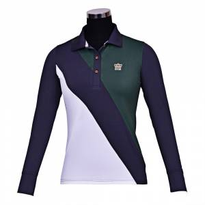 GHM by Equine Couture Pro Sport Long Sleeve Polo Shirt- Ladies