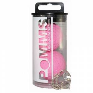 Equine Healthcare International Pomms Ear Plugs-Pink, Ltd Edition