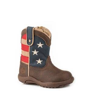Roper Infant Cowbabies American Patriot Fashion Leather Boot