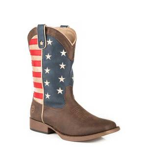 Roper Kids American Patriot Square Toe Fashion Cowboy Boots