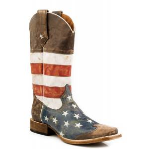 Roper Mens American West Square Toe Cowboy Boots