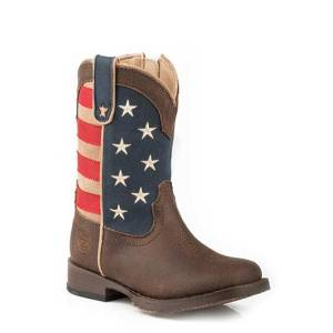 Roper Toddler American Patriot Square Toe Fashion Cowboy Boots