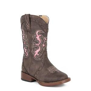 Roper Toddler Lexi Bling Wide Square Toe Cowgirl Boots