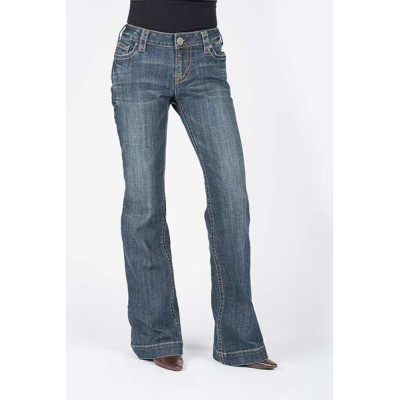 Stetson Ladies 214 Trouser Fit Stitched Circle Open Pocket Jeans
