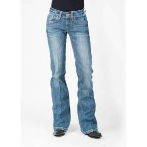 Stetson Ladies 816 Fit Metallic Back Pocket Flared Leg Jeans