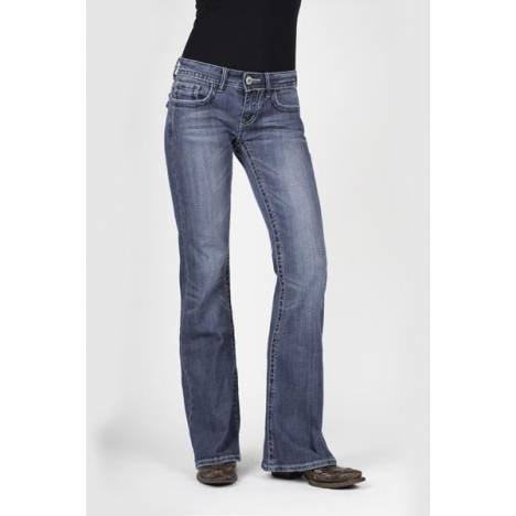 Stetson Ladies 816 Fit Studs And Rhinestones Flap Back Pockets Jeans