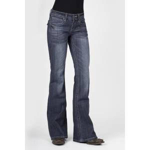 Stetson Ladies 816 Fit With V Detail Flap Back Pocket Flared Leg Jeans