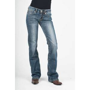 Stetson Ladies 816 Gold S Back Pocket Classic Boot Cut Jeans