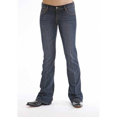Stetson Ladies 816 Ink Wash Denim Jean Boot Cut Jeans