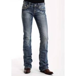 Stetson Ladies 818 Contemporary Style Heavy Deco Stitch With Flap Pocket Jeans