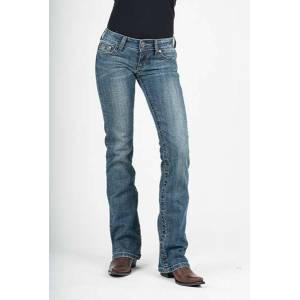 Stetson Ladies 818 Contemporary Style Gold Leaf Deco Back Pocket Boot Cut Jeans