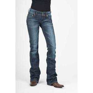 Stetson Ladies 818 Contemporary Styling Tonal S Back Pocket Boot Cut Jeans
