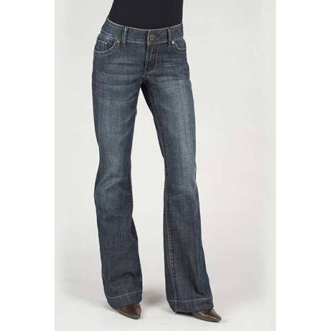 Stetson Ladies Blue Denim Trouser S Back Pocket Jeans