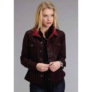 Stetson Ladies Fall I Coated Twill Denim Look Jacket
