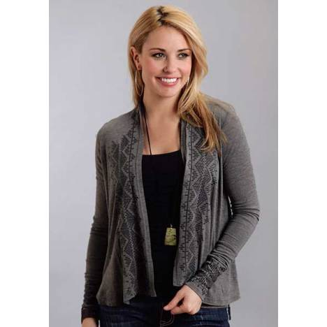 Stetson Ladies Fall I Heather Grey Cropped Cardigan
