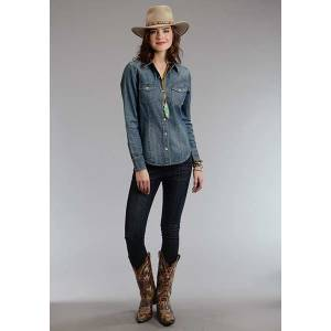 Stetson Ladies Fall II Denim Western Blouse