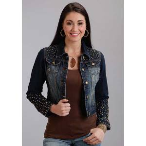 Stetson Ladies Fall II Stud Embellished Shrunken Denim Jacket