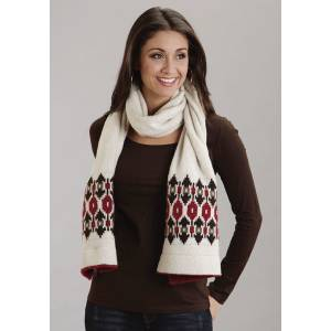 Stetson Ladies Fall III Intarsia Pattern Wool Scarf