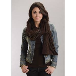 Stetson Ladies Fall III Jersey Scarf - Chocolate