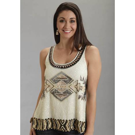 Stetson Ladies Fall/Winter III Beaded Rayon Fabric Tank