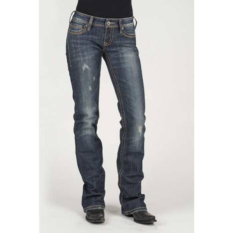 Stetson Ladies S Contrast Stitch Back Pocket Flared Leg Jeans