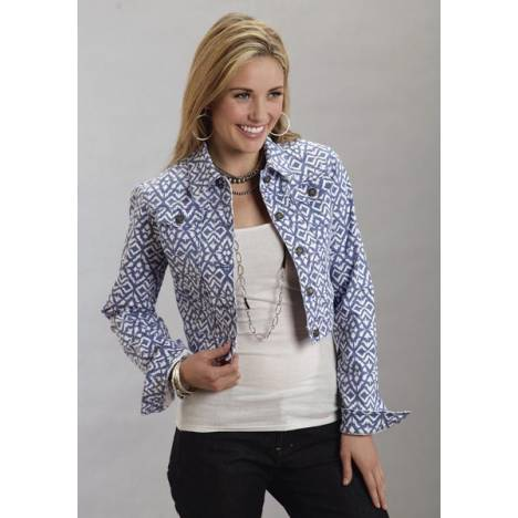 Stetson Ladies Spring II Aztec Printed Denim Shrunken Jacket