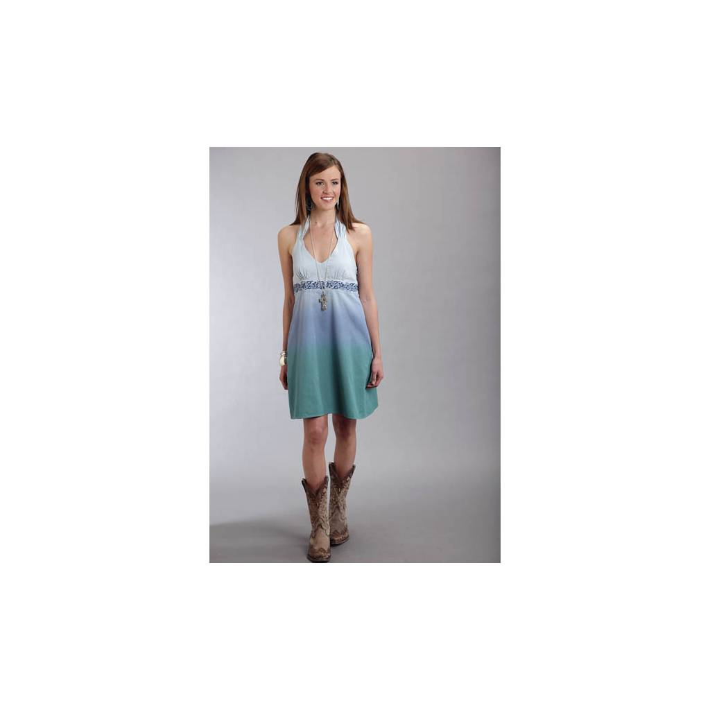 Stetson Ladies Spring II Dip Dye Denim Halter Dress