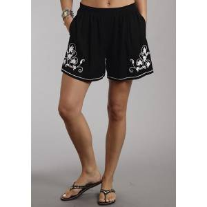 Stetson Ladies Summer I Black Rayon Twill Shorts