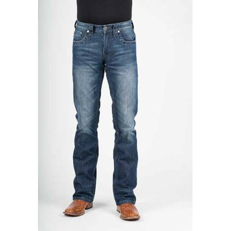 Stetson Mens 1014 Fit Plain Back Pocket Distressed Seam Jeans