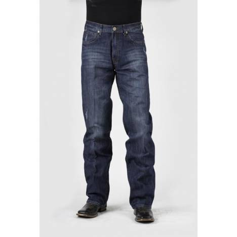 Stetson Mens 1312 Fit 5 Pocket Style Deco Stitch With V Shape Jeans