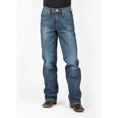 Stetson Mens 1312 Fit Classic Double Needle X With Zig Zag Stitch Pocket Jeans
