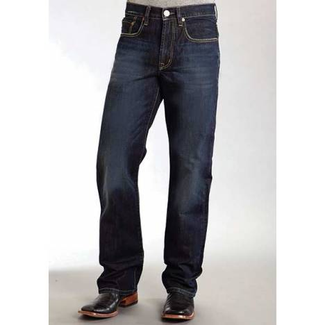 Stetson Mens 1312 Modern Fit Dark Rinse Basic Denim Jeans