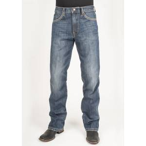 Stetson Mens 1312 Modern Fit Pieced Back Pocket Lower Rise Jeans