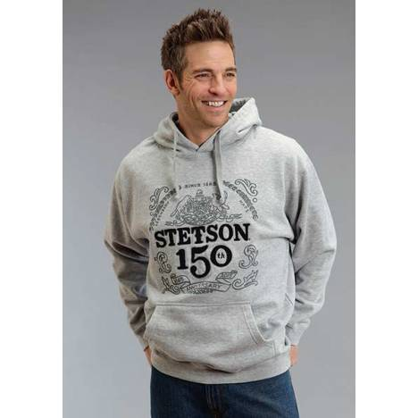 Stetson Mens 150Th AnnIVersary Emblem Hooded Sweatshirt