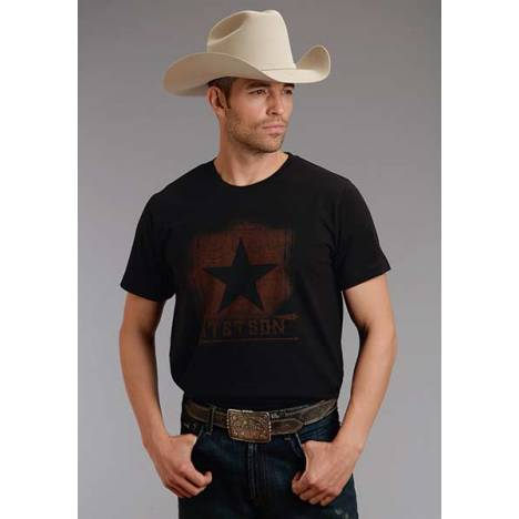 Stetson Mens 1865 Big Star Screen Print T-Shirt