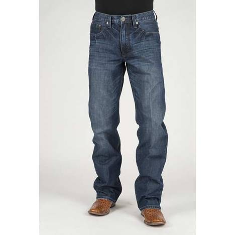 Stetson Mens Barbed Wire Deco Back Pocket Jeans