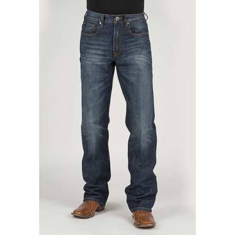 Stetson Mens Contrast Basic X Deco Back Pocket Lower Rise Jeans