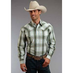 Stetson Mens Fall II Hunters Plaid Long Sleeve Snap Shirt