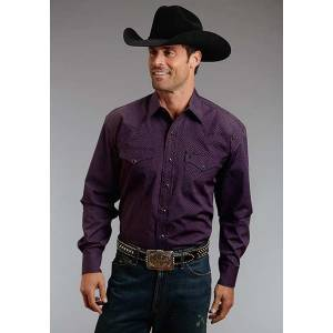 Stetson Mens Fall III Eight Ball Foulard Long Sleeve Snap Shirt