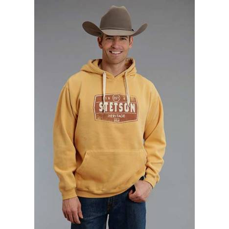 Stetson Mens Heritage Applique Hooded Sweatshirt
