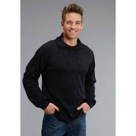 Stetson Mens Original Rugged Wool Sweater Knit Pullover - Grey