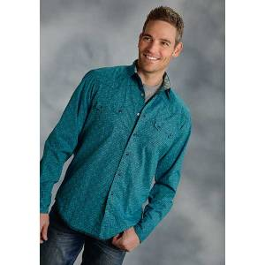 Roper Performance Fall Ii Mens Aztec Square Long Sleeve Snap Shirt