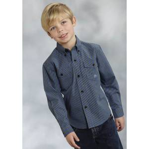 Roper Boys Big Sky Long Sleeve Button Shirt