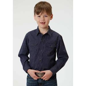 Roper Boys Cruller Foulard Long Sleeve Snap Shirt