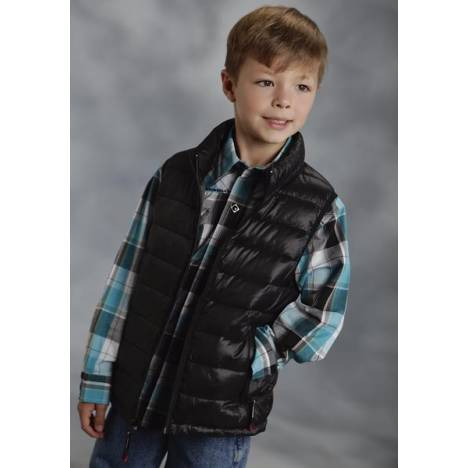 Roper Boys Parachute Crushable Vest - Black