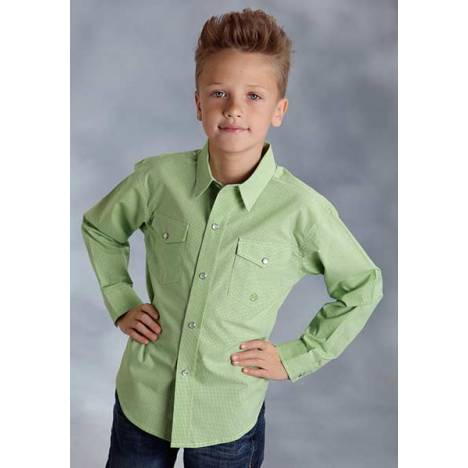 Roper Boys Willow Winds Long Sleeve Snap Shirt
