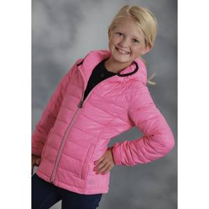 Roper Girls Parachute Crushable Down Like Jacket - Pink